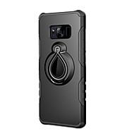 Недорогие Чехлы и кейсы для Galaxy S8 Plus-Кейс для Назначение SSamsung Galaxy S8 Plus / S8 Защита от удара / Кольца-держатели Кейс на заднюю панель Однотонный Твердый ПК для S8 Plus / S8 / S7 edge