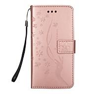 Недорогие Чехлы и кейсы для Galaxy S-Кейс для Назначение SSamsung Galaxy S8 Plus / S8 Кошелек / Бумажник для карт / со стендом Чехол Цветы Твердый Кожа PU для S8 Plus / S8 / S7 edge