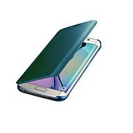 Недорогие Чехлы и кейсы для Galaxy Note-Кейс для Назначение SSamsung Galaxy Note 8 Note 5 Зеркальная поверхность Авто Режим сна / Пробуждение Чехол Сплошной цвет Твердый ПК для