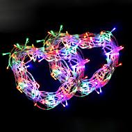 olcso -10m 100 leds meleg fehér hideg fehér lila piros kék zöld string lámpák ac 110 / 220v