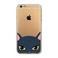 Недорогие Кейсы для iPhone 8-Кейс для Назначение Apple iPhone 8 iPhone 8 Plus Защита от удара Полупрозрачный С узором Кейс на заднюю панель Кот Мягкий ТПУ для iPhone
