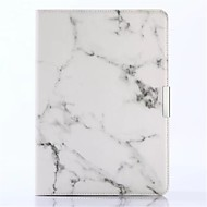 cheap iPad  Cases / Covers-Case For Apple iPad Air 2 iPad Air iPad Air 2 iPad (2017) Card Holder Wallet with Stand Flip Full Body Cases Marble Hard PU Leather for