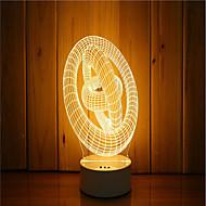 1 sarja 3d mieliala yövalo käsi tunne himmennettävä usb powered lahja valaisin rengas