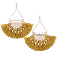cheap -Women's Tassel Drop Earrings Rose Gold Plated Earrings Ladies Tassel Jewelry Light Pink / Dark Green / Dark Navy For Daily Formal 2pcs