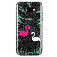 Недорогие Чехлы и кейсы для Galaxy A5(2017)-Кейс для Назначение SSamsung Galaxy A5(2017) A3(2017) Полупрозрачный С узором Рельефный Кейс на заднюю панель Сияние и блеск