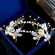 お買い得  -女性用 花柄 フローラル 人造真珠 ヘアバンド