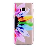 お買い得  新着 Samsung 用アクセサリー-ケース 用途 Samsung Galaxy S8 Plus S8 IMD パターン バックカバー クリア フラワー ソフト TPU のために S8 Plus S8 S7 edge S7 S6 edge S6 S5