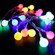 cheap LED String Lights-BRELONG® 28 LEDs 2M String Light RGB+White Decorative AC 220-240V