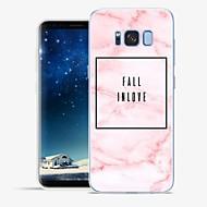 Недорогие Чехлы и кейсы для Galaxy S8 Plus-Кейс для Назначение SSamsung Galaxy S8 Plus S8 С узором Кейс на заднюю панель Слова / выражения Мрамор Мягкий ТПУ для S8 Plus S8 S7 edge