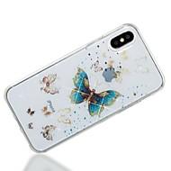 Недорогие Кейсы для iPhone 8 Plus-Кейс для Назначение Apple iPhone X iPhone 8 IMD С узором Кейс на заднюю панель Бабочка Сияние и блеск Мягкий ТПУ для iPhone X iPhone 8