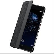 halpa Puhelimen kuoret-Etui Käyttötarkoitus Huawei P10 Plus P10 Ikkunalla Flip Automaattinen uni/herätystila Kokonaan peittävä Yhtenäinen väri Kova Hiilikuitu