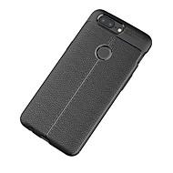 お買い得  携帯電話ケース-ケース 用途 OnePlus ワンプラス3 5 つや消し エンボス加工 バックカバー 純色 ソフト TPU のために One Plus 5 OnePlus 5T One Plus 3 One Plus 3T OnePlus