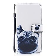 Недорогие Кейсы для iPhone 8 Plus-Кейс для Назначение Apple iPhone X / iPhone 8 Кошелек / Бумажник для карт / со стендом Чехол С собакой Твердый Кожа PU для iPhone X / iPhone 8 Pluss / iPhone 8
