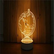 1 sarja 3d tunnelma yövalo käsi tunne himmennettävä usb powered gift lampun maapalloa