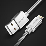 halpa iPhone kaapelit ja adapterit-Valaistus USB-kaapelisovitin pikalataus Käyttötarkoitus iPhone 100 cm Nylon