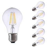 preiswerte -GMY® 6pcs 4W 400 lm E27 LED Glühlampen A60(A19) 4 Leds COB LED-Lampe Warmes Weiß Wechselstrom 220-240V