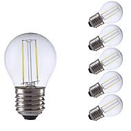 お買い得  -GMY® 6本 2W 250/200lm E27 フィラメントタイプLED電球 P45 2 LEDビーズ COB LEDライト 温白色 クールホワイト 220-240V