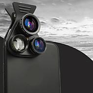Handy-Objektiv Fish-Eye-Objektiv lange Brennweite Objektiv Weitwinkel-Objektiv Makro-Objektiv andere optische Glas 3x Objektiv mit Ständer