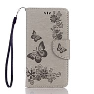 cheap Samsung Accessories-Case For Samsung Galaxy J5 (2017) J3 (2017) Card Holder Wallet with Stand Flip Embossed Full Body Butterfly Hard PU Leather for J7 (2017)