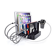 abordables Cargadores USB-Cargador usb 6 Puertos Estación de cargador de escritorio Con Interruptor (es) Stand dock Adaptador de carga