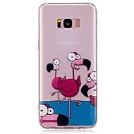 voordelige Nieuwe collectie Samsung-accessoires-hoesje Voor Samsung Galaxy S8 Plus S8 Patroon Achterkantje Flamingo Zacht TPU voor S8 Plus S8