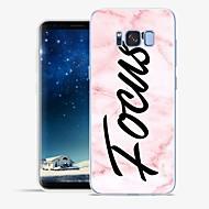 Недорогие Чехлы и кейсы для Galaxy S6 Edge Plus-Кейс для Назначение SSamsung Galaxy S8 Plus S8 С узором Кейс на заднюю панель Слова / выражения Мрамор Мягкий ТПУ для S8 Plus S8 S7 edge