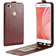 voordelige Mobiele telefoonhoesjes-hoesje Voor Xiaomi Redmi Note 5A Redmi 4X Kaarthouder Flip Volledig hoesje Effen Kleur Hard PU-nahka voor Redmi Note 5AA Redmi 5A Xiaomi