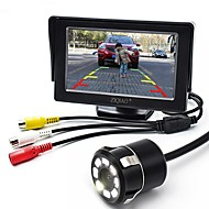 cheap Automotive & Motorcycle-ZIQIAO 4.3 Inch Monitor and 8LED CCD HD Car Rear View Camera