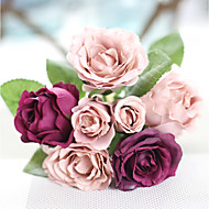 abordables Flores Artificiales-Flores Artificiales 1 Rama Moderno / Contemporáneo Rosas Flor de Mesa