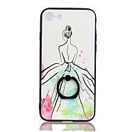 Недорогие Кейсы для iPhone 8-Кейс для Назначение Apple iPhone 8 Plus iPhone 6 Plus Защита от удара Кольца-держатели С узором Задняя крышка Мультипликация Твердый PC