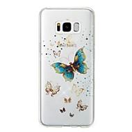 お買い得  新着 Samsung 用アクセサリー-ケース 用途 Samsung Galaxy S8 Plus S8 IMD パターン バックカバー バタフライ キラキラ仕上げ ソフト TPU のために S8 Plus S8 S7 edge S7