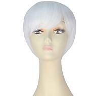 preiswerte -miss u hair Damen Synthetische Perücken Kurz Gerade Weiß Halloween Perücke Karnevalsperücke Cosplay Perücke Natürliche Perücke Lolita