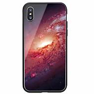 Недорогие Кейсы для iPhone 8 Plus-Кейс для Назначение Apple iPhone X / iPhone 8 С узором Кейс на заднюю панель Цвет неба Твердый Закаленное стекло для iPhone X / iPhone 8 Pluss / iPhone 8