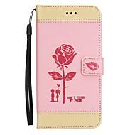 Недорогие Чехлы и кейсы для Huawei Honor-Кейс для Назначение Huawei Honor 8 Бумажник для карт Кошелек со стендом Флип Рельефный Чехол Цветы Твердый Кожа PU для Honor 8 Honor 6X