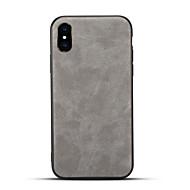 Недорогие Кейсы для iPhone 8 Plus-Кейс для Назначение Apple iPhone X iPhone 8 Матовое Задняя крышка Сплошной цвет Твердый Искусственная кожа для iPhone X iPhone 8 Pluss