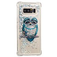 Недорогие Чехлы и кейсы для Galaxy Note-Кейс для Назначение SSamsung Galaxy Note 8 Защита от удара / Движущаяся жидкость / С узором Кейс на заднюю панель Сова Мягкий ТПУ для Note 8