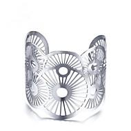 お買い得  -女性用 幾何学模様 カフブレスレット  -  ステンレス鋼 ヴィンテージ ブレスレット シルバー 用途 贈り物 日常