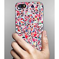Недорогие Кейсы для iPhone 8-Кейс для Назначение Apple iPhone X iPhone 8 iPhone 8 Plus Кейс для iPhone 5 С узором Кейс на заднюю панель Геометрический рисунок Твердый