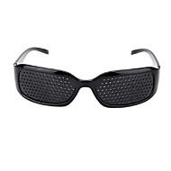 abordables Corte y medición-gafas de sol pinhole anti-fatiga cuidado de la visión pin hole microporous glasses ojo ejercicio anti-miopía