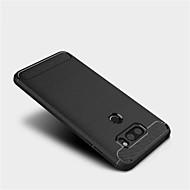 お買い得  携帯電話ケース-ケース 用途 LG V30 Q6 つや消し バックカバー 純色 ソフト TPU のために LG V30 LG Q6 LG G6