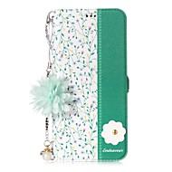 Недорогие Чехлы и кейсы для Galaxy S-Кейс для Назначение SSamsung Galaxy S8 Plus S8 Бумажник для карт со стендом Флип С узором Своими руками Чехол Цветы Твердый Кожа PU для