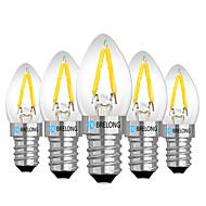 お買い得  LED ボール型電球-BRELONG® 5個 2W 120lm E14 E12 LEDボール型電球 2 LEDビーズ 温白色 ホワイト レッド 220V