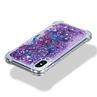 Недорогие Кейсы для iPhone 8-Кейс для Назначение Apple iPhone X iPhone 8 Защита от удара Движущаяся жидкость С узором Кейс на заднюю панель Сияние и блеск Ловец снов