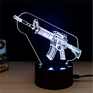 billiga Originella LED-lampor-1set LED Night Light Tryck 7-Color USB Powered Stress och ångest Relief Dekorativt ljus Med USB-port Färgskiftande