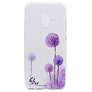 billige Galaxy A3(2016) Etuier-Etui Til Samsung Galaxy A8 Plus 2018 A8 2018 Transparent Mønster Bagcover Mælkebøtte Blødt TPU for A3 (2017) A5 (2017) A7 (2017) Galaxy