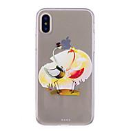 Недорогие Кейсы для iPhone 8-Кейс для Назначение Apple iPhone X iPhone 8 IMD Прозрачный С узором Задняя крышка Фламинго Мягкий TPU для iPhone X iPhone 8 Pluss iPhone