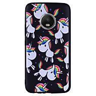 お買い得  携帯電話ケース-ケース 用途 Motorola G5 Plus G5 パターン ユニコーン ソフト のために