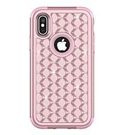 Недорогие Кейсы для iPhone 8-Кейс для Назначение Apple iPhone X iPhone 8 Plus Защита от удара Стразы Чехол броня Твердый ТПУ для iPhone X iPhone 8 Pluss iPhone 8