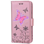 preiswerte iPod-Hüllen / Cover-Tasche für touch 5 6 kartenhalter brieftasche mit stand flip ganzkörper schmetterling glitter leuchten hart pu leder fou touch 5 6