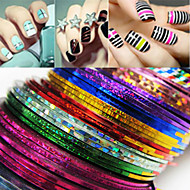 billige Sminke og neglepleje-24 pcs Folie Stripping Tape Abstrakt / Mode Daglig Nail Art Design